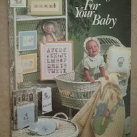 Vintage Leisure Arts Charter Designs For Your Baby Cross Stitch Pattern Booklet Nursery Cross Stitch Sewing Pattern Retro
