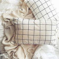 Wonky Grid Pillowcase Set - Urban Outfitters