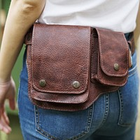 Brown Leather Hip Bag