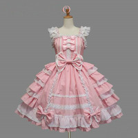 Hot Sale Women Summer Sweet Lolita Dress Chiffon Lace Medieval Gothic Princess Dresses for Girl Alternative Measures - Brides & Bridesmaids - Wedding, Bridal, Prom, Formal Gown