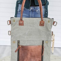 Go To Town Fold-Over Tote
