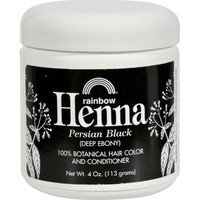 Rainbow Research Henna Hair Color And Conditioner Persian Black Deep Ebony - 4 Oz