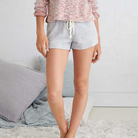 Aerie Heathered Fleece Short, Medium Heather