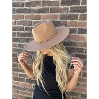 Luxe Chain Hat (Tan)