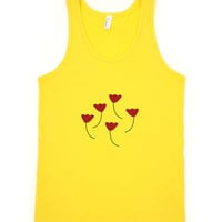 Red Poppy Flowers Tank Top Nature Garden Boho Chic  Summer Style