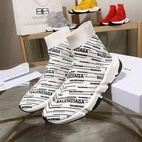 Copy of Balenciaga Speed Trainers Red With Black Logo Print Sneakers