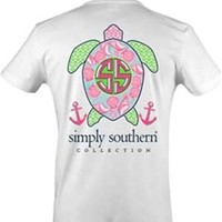 Gliks - Simply Southern Preppy Collection Turtle Shell T-shirt for Women