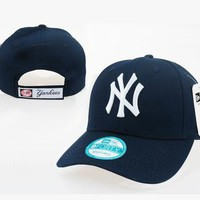 NY Women Men Embroidery Leisure Tourism Sunhat Baseball Cap Hat