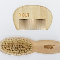 Natural Bamboo Wooden Brush and Comb Set for Baby and Toddler Cradle Cap - Newborn Essential Product