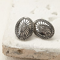 Etched Oval Studs
