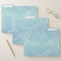 Starfish Aqua Blue Beach File Folders