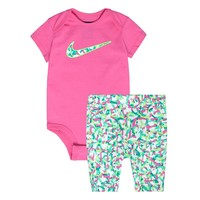 Nike Confetti Bodysuit & Capri Leggings Set - Baby Girl, Size: