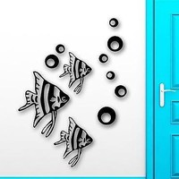 Wall Stickers Vinyl Decal Fish For Bathroom Ocean Marine Sea Home Decor Unique Gift (ig1569)