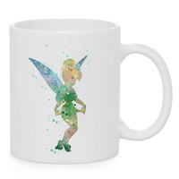 Tinkerbell Watercolor Coffee Mug, Kids Mug, Disney Quotes Mug