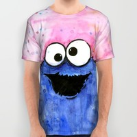 Cookie Monster All Over Print Shirt by Olechka