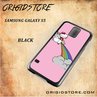 HELLO KITTY UNICORN Snap on 2D Black and White Or 3D Suitable With Image For Samsung Galaxy S5 Case