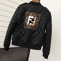 Fendi Women Zip Up Jacket-7