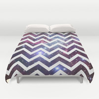 Nebula Chevron Duvet Cover by RexLambo | Society6