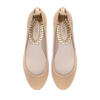 BALLERINA WITH ANKLE STRAP - Shoes - Woman - ZARA United States