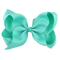"6"" Teal Hair Bow"