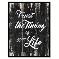 Trust the timing of your life 1 Motivational Quote Saying Canvas Print with Picture Frame Home Decor Wall Art