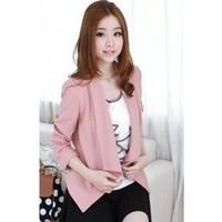 Pink Blends Lady Shoulder Pads Csual Women One Size Outfit @H4151p