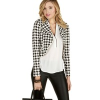 Houndstooth Check On It Moto Jacket