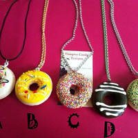 """Vampire Candy - """"Mmm... Donut"""" Necklace (choice of ONE only)"""