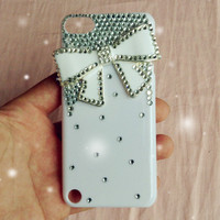 Luxury Bling Crystal Diamond Bow Cover Case For I POD TOUCH 5 5G 5TH GEN