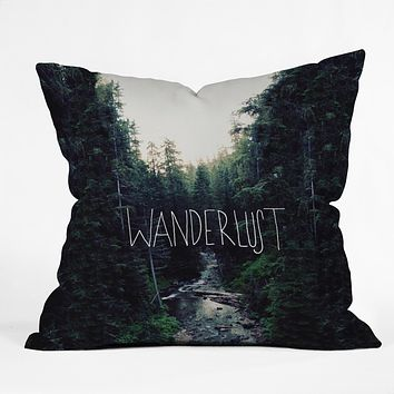 Leah Flores Wanderlust 1 Throw Pillow
