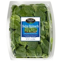 Walmart: Taylor Farms Baby Spinach, 11 oz