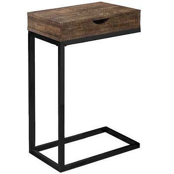 "Brown, Black, Particle Board, Drawer - Accent Table 10'.25"" x 15'.75"" x 24'.5"""