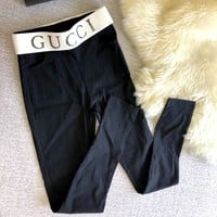 GUCCI elastic belt pencil pants