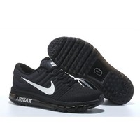Nike Air Max 2017 Men s Women s Shoes Black White