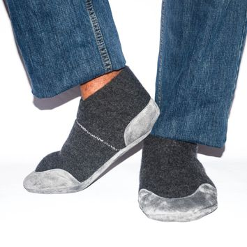 Men Cashmere Slippers, Men Wool Shoes