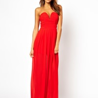 TFNC Maxi Dress With Plunge Bustier