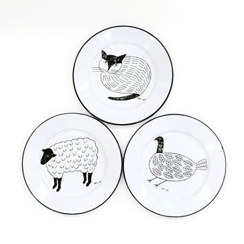 Animal Ceramic Porcelain Plate