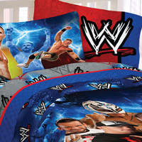 WWE Wrestling Bed Sheet Set Champions Bedding Accessories: Twin