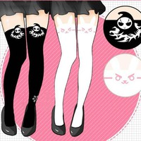 DVA stocking pants WATCH OVER Cosplay Game OW DIE REAPER DVA Lolita Printed Pantyhose D.VA  Costume TIGHTS