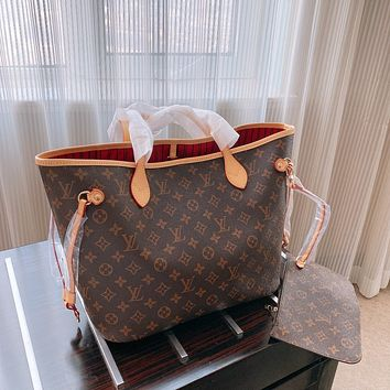 Louis Vuitton LV Women Shopping Bag Leather Handbag Tote Crossbody Satchel Shoulder Bag