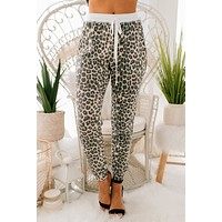 You Caught Me Leopard Print Joggers (Brown)