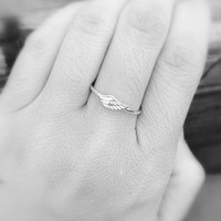 Sterling Silver Wing Ring, Angel Wing Ring, Angel Wing Jewelry, Best Friends Ring