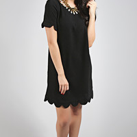 pretty profesh scallop dress - black
