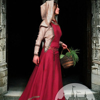 """Medieval Dress Tunic with Surco and Houve """"Townswoman"""""""