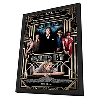 The Great Gatsby 3D 11x17 Framed Movie Poster (2013)