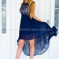 Higher Love Midi Dress (Navy) | Xenia Boutique | Women's fashion for Less - Fast Shipping