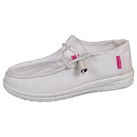 Slip On Shoes - White - S21 - Simply Southern