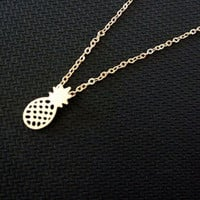 Pineapple Charm Necklace 18k Gold