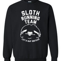 Sloth Running Team Crewneck Sweatshirt