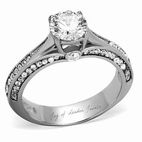 1.7CT Round Cut Solitaire Russian Lab Diamond Engagement Ring